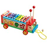 Gobus Colorful Wooden Hand Knock Piano Xylophone Animal Shape Matching Toys Push...