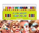 Mimoo Pintura Facial Ninos, 16 Colores Halloween Niño Kit Pintura Lápices de...