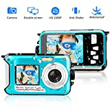 Camara Acuatica 1080P Camara acuatica Sumergible Full HD Grabadora de Video de...